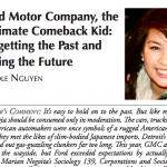 Academic Paper: Ford Motor Company, the Ultimate Comeback Kid: Forgetting the Past and Facing the Future